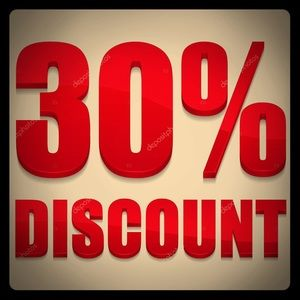 30 % off 2 or more items!!